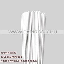 3mm biela (Snehobiela) papierové prúžky na quilling (120 ks, 49 cm)