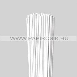 4mm Biela (Snehobiela) papierové prúžky na quilling (110 ks, 49 cm)