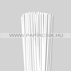 5mm Biela (Snehobiela) papierové prúžky na quilling (100 ks, 49 cm)