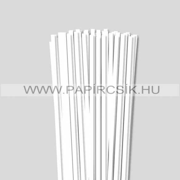 6mm Biela (Snehobiela) papierové prúžky na quilling (90 ks, 49 cm)