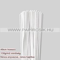 3mm Biela perleť (krémováova) papierové prúžky na quilling (120 ks, 49 cm)