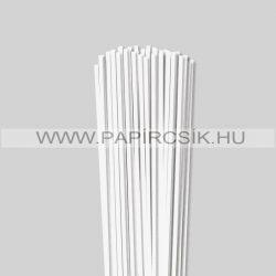 4mm Biela perleť (krémováova) papierové prúžky na quilling (110 ks, 49 cm)
