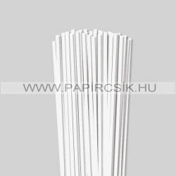 5mm Biela perleť (krémováova) papierové prúžky na quilling (100 ks, 49 cm)