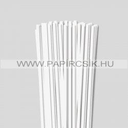 6mm Biela perleť (krémováova) papierové prúžky na quilling (90 ks, 49 cm)
