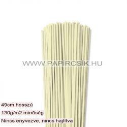 3mm Vanilia papierové prúžky na quilling (120 ks, 49 cm)