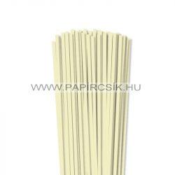 5mm vanilia papierové prúžky na quilling (100 ks, 49 cm)