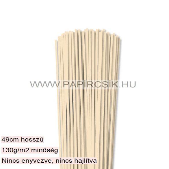 3mm krémová papierové prúžky na quilling (120 ks, 49 cm)