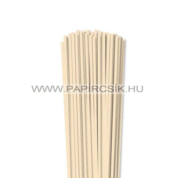 4mm krémová papierové prúžky na quilling (110 ks, 49 cm)