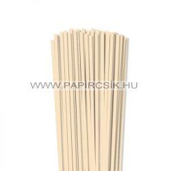 5mm krémová papierové prúžky na quilling (100 ks, 49 cm)
