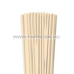 6mm krémová papierové prúžky na quilling (90 ks, 49 cm)