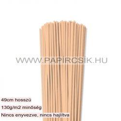3mm telová / marhuľová papierové prúžky na quilling (120 ks, 49 cm)
