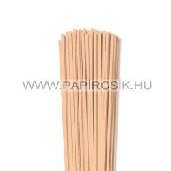 4mm telová / marhuľová papierové prúžky na quilling (110 ks, 49 cm)