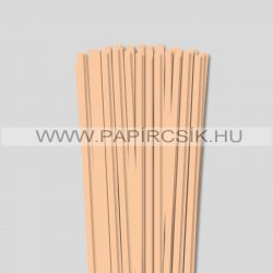 6mm telová / marhuľová papierové prúžky na quilling (90 ks, 49 cm)