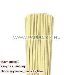 3mm svetložltá papierové prúžky na quilling (120 ks, 49 cm)
