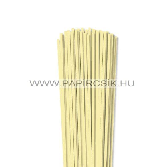 4mm svetložltá papierové prúžky na quilling (110 ks, 49 cm)