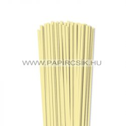 5mm svetložltá papierové prúžky na quilling (100 ks, 49 cm)