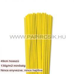3mm žltá papierové prúžky na quilling (120 ks, 49 cm)