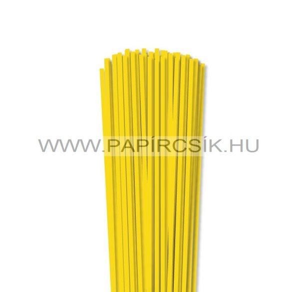4mm žltá papierové prúžky na quilling (110 ks, 49 cm)