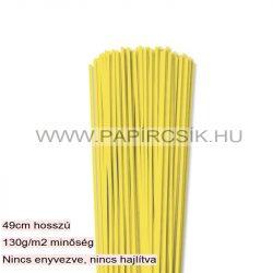 3mm citrónová papierové prúžky na quilling (120 ks, 49 cm)