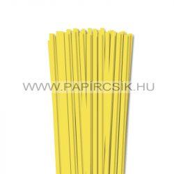 6mm citrónová papierové prúžky na quilling (90 ks, 49 cm)