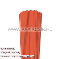 3mm oranžová papierové prúžky na quilling (120 ks, 49 cm)