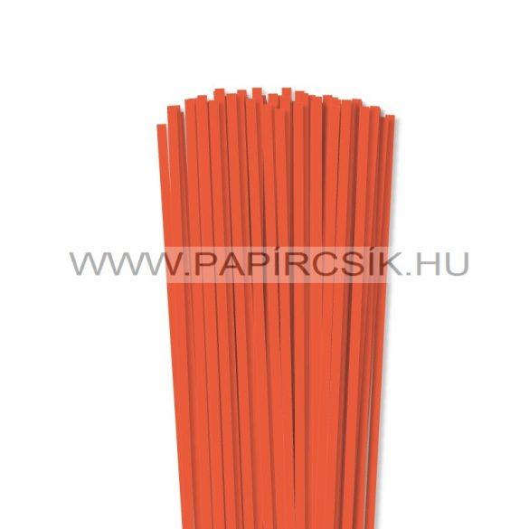 5mm oranžová papierové prúžky na quilling (100 ks, 49 cm)