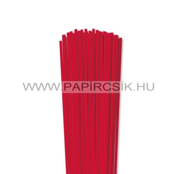 4mm červená papierové prúžky na quilling (110 ks, 49 cm)