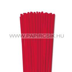 6mm červená papierové prúžky na quilling (90 ks, 49 cm)