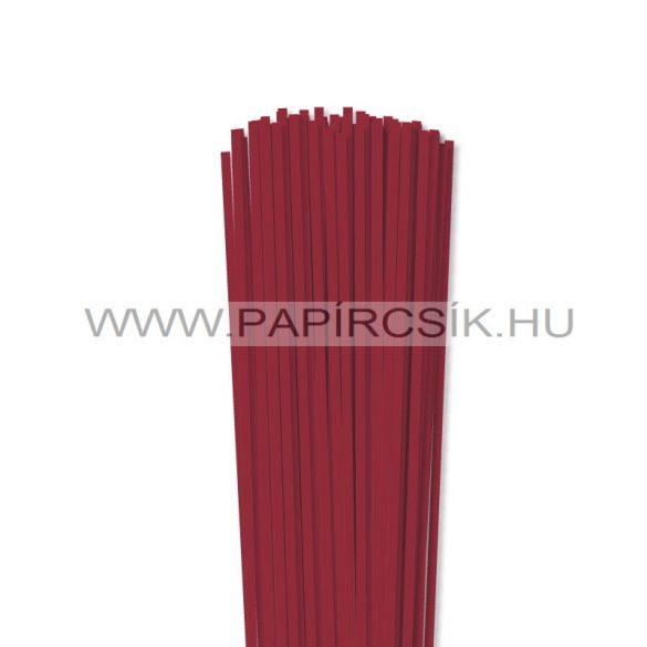 4mm tmavo červená papierové prúžky na quilling (110 ks, 49 cm)