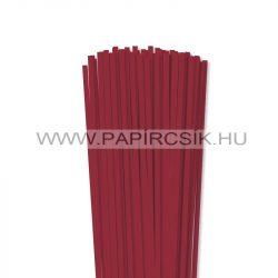 5mm tmavo červená papierové prúžky na quilling (100 ks, 49 cm)