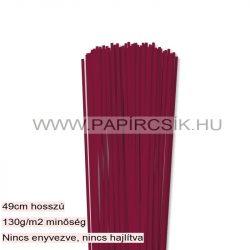 3mm bordová papierové prúžky na quilling (120 ks, 49 cm)