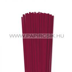 5mm bordová papierové prúžky na quilling (100 ks, 49 cm)