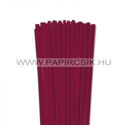6mm bordová papierové prúžky na quilling (90 ks, 49 cm)