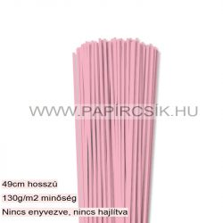 3mm ružová papierové prúžky na quilling (120 ks, 49 cm)