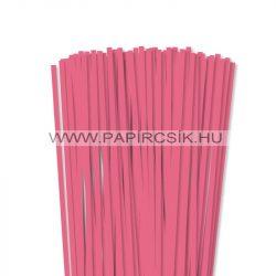 6mm stredne ružová papierové prúžky na quilling (90 ks, 49 cm)