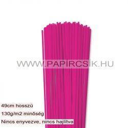 3mm Pink papierové prúžky na quilling (120 ks, 49 cm)