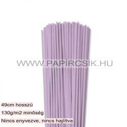3mm fialová papierové prúžky na quilling (120 ks, 49 cm)
