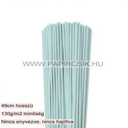 3mm svetlo modrá papierové prúžky na quilling (120 ks, 49 cm)