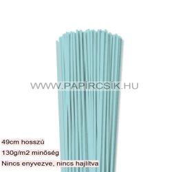 3mm stredne modrá papierové prúžky na quilling (120 ks, 49 cm)