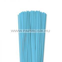 4mm nebeská modrá papierové prúžky na quilling (110 ks, 49 cm)