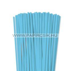 6mm nebeská modrá papierové prúžky na quilling (90 ks, 49 cm)