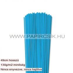 3mm modrá pacific papierové prúžky na quilling (120 ks, 49 cm)