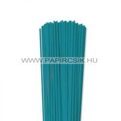 3mm tyrkysová papierové prúžky na quilling (120 ks, 49 cm)