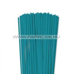 5mm tyrkysová papierové prúžky na quilling (100 ks, 49 cm)