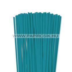 6mm tyrkysová papierové prúžky na quilling (90 ks, 49 cm)