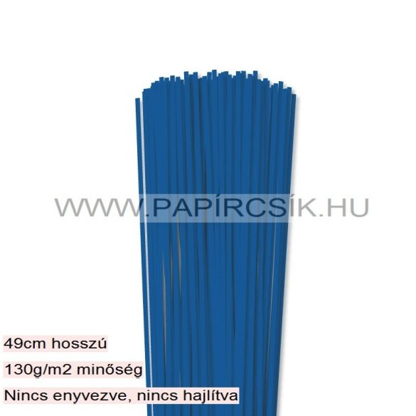 3mm kráľovská modrá papierové prúžky na quilling (120 ks, 49 cm)