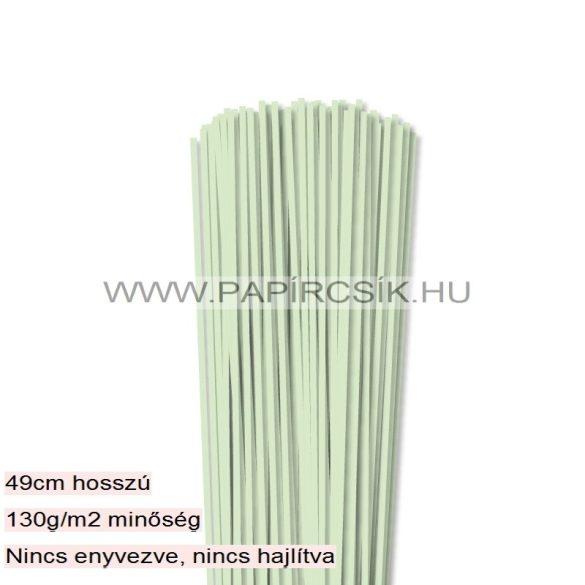 3mm svetlozelená papierové prúžky na quilling (120 ks, 49 cm)