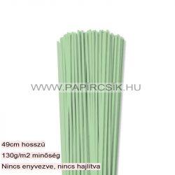 3mm stredne zelená papierové prúžky na quilling (120 ks, 49 cm)
