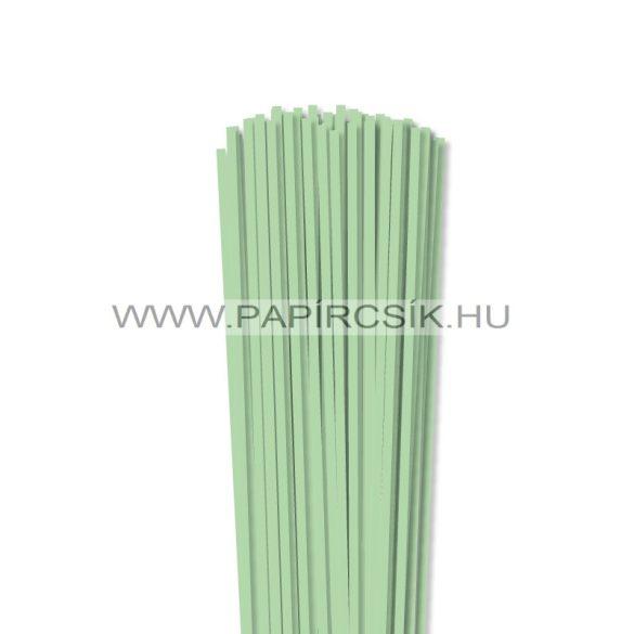4mm stredne zelená papierové prúžky na quilling (110 ks, 49 cm)