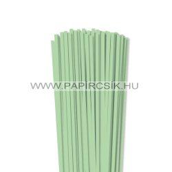 5mm stredne zelená papierové prúžky na quilling (100 ks, 49 cm)